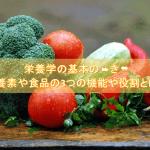栄養学の基本の❝き❞ 栄養素や食品が持つ3つの機能や役割とは?