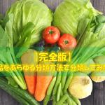 【完全版】食品をあらゆる分類方法で分類してみた!
