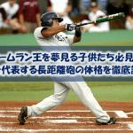 【高校球児必見!】日本を代表するホームランバッターの体格(身長・体重・BMI)を調査してみた!~2001年シーズン以降~