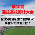 2018春の甲子園全35試合を生で観戦して私が興奮した試合7選!