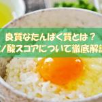 【アミノ酸スコア】によって良質なたんぱく質かどうかがわかる!?
