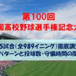 【2018夏の甲子園】全55試合(989イニング)の各失点パターンと投手の投球数・守備時間の関係性とは?